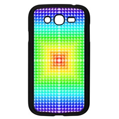 Square Rainbow Pattern Box Samsung Galaxy Grand Duos I9082 Case (black)