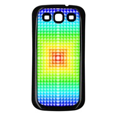 Square Rainbow Pattern Box Samsung Galaxy S3 Back Case (black) by BangZart
