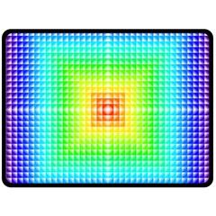 Square Rainbow Pattern Box Double Sided Fleece Blanket (large)  by BangZart