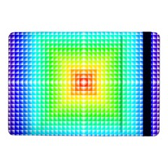 Square Rainbow Pattern Box Samsung Galaxy Tab Pro 10 1  Flip Case