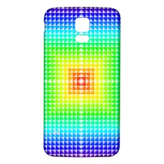 Square Rainbow Pattern Box Samsung Galaxy S5 Back Case (white)