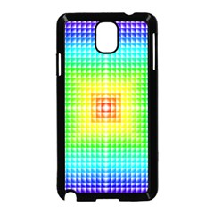 Square Rainbow Pattern Box Samsung Galaxy Note 3 Neo Hardshell Case (black)