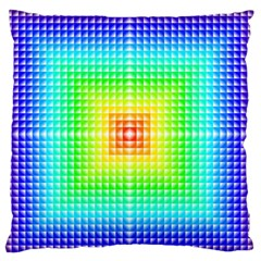 Square Rainbow Pattern Box Large Flano Cushion Case (two Sides) by BangZart