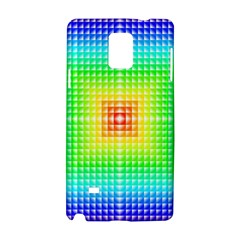 Square Rainbow Pattern Box Samsung Galaxy Note 4 Hardshell Case by BangZart