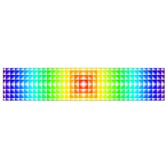 Square Rainbow Pattern Box Flano Scarf (small)