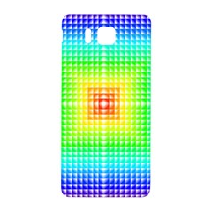 Square Rainbow Pattern Box Samsung Galaxy Alpha Hardshell Back Case by BangZart