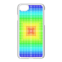 Square Rainbow Pattern Box Apple Iphone 7 Seamless Case (white) by BangZart