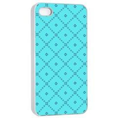 Pattern Background Texture Apple Iphone 4/4s Seamless Case (white) by BangZart