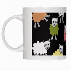 Sheep Cartoon Colorful Black Pink White Mugs by BangZart