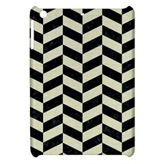 Chevron1 Black Marble & Beige Linen Apple Ipad Mini Hardshell Case by trendistuff