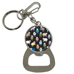 Sheep Cartoon Colorful Black Pink Button Necklaces