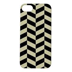Chevron1 Black Marble & Beige Linen Apple Iphone 5s/ Se Hardshell Case by trendistuff
