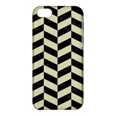 Chevron1 Black Marble & Beige Linen Apple Iphone 5c Hardshell Case by trendistuff