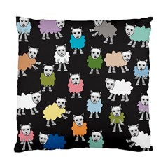Sheep Cartoon Colorful Black Pink Standard Cushion Case (two Sides) by BangZart