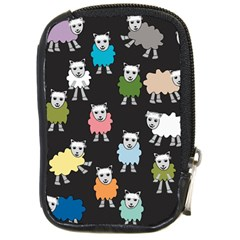 Sheep Cartoon Colorful Black Pink Compact Camera Cases by BangZart