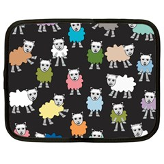 Sheep Cartoon Colorful Black Pink Netbook Case (xxl)  by BangZart
