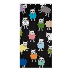 Sheep Cartoon Colorful Black Pink Shower Curtain 36  X 72  (stall)  by BangZart