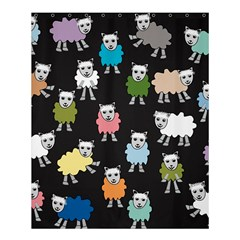 Sheep Cartoon Colorful Black Pink Shower Curtain 60  X 72  (medium)