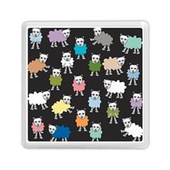 Sheep Cartoon Colorful Black Pink Memory Card Reader (square)  by BangZart