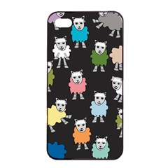 Sheep Cartoon Colorful Black Pink Apple Iphone 4/4s Seamless Case (black) by BangZart