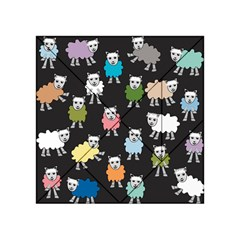 Sheep Cartoon Colorful Black Pink Acrylic Tangram Puzzle (4  X 4 )
