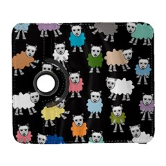 Sheep Cartoon Colorful Black Pink Galaxy S3 (flip/folio) by BangZart