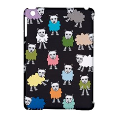 Sheep Cartoon Colorful Black Pink Apple Ipad Mini Hardshell Case (compatible With Smart Cover) by BangZart