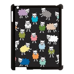 Sheep Cartoon Colorful Black Pink Apple Ipad 3/4 Case (black) by BangZart