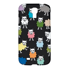 Sheep Cartoon Colorful Black Pink Samsung Galaxy S4 I9500/i9505 Hardshell Case