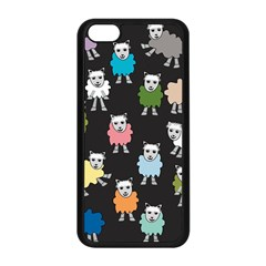 Sheep Cartoon Colorful Black Pink Apple Iphone 5c Seamless Case (black) by BangZart