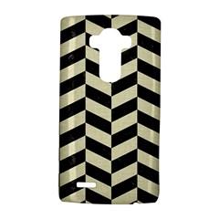 Chevron1 Black Marble & Beige Linen Lg G4 Hardshell Case by trendistuff