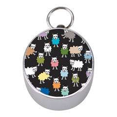 Sheep Cartoon Colorful Black Pink Mini Silver Compasses