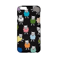 Sheep Cartoon Colorful Black Pink Apple Iphone 6/6s Hardshell Case