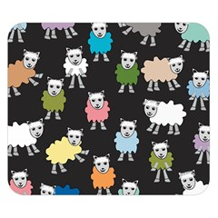 Sheep Cartoon Colorful Black Pink Double Sided Flano Blanket (small)  by BangZart