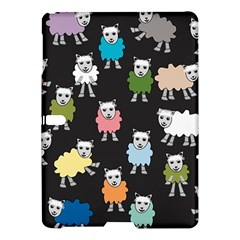 Sheep Cartoon Colorful Black Pink Samsung Galaxy Tab S (10 5 ) Hardshell Case  by BangZart