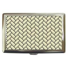 Brick2 Black Marble & Beige Linen (r) Cigarette Money Cases by trendistuff