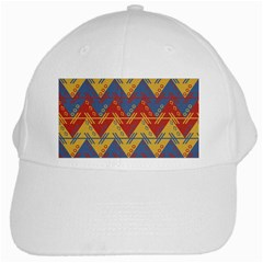 Aztec South American Pattern Zig White Cap by BangZart
