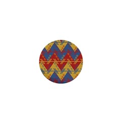 Aztec South American Pattern Zig 1  Mini Magnets