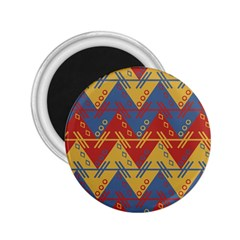Aztec South American Pattern Zig 2 25  Magnets by BangZart