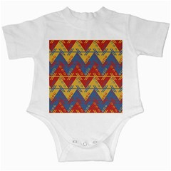 Aztec South American Pattern Zig Infant Creepers