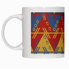 Aztec South American Pattern Zig White Mugs by BangZart