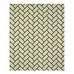 Brick2 Black Marble & Beige Linen (r) Shower Curtain 60  X 72  (medium)  by trendistuff