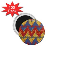Aztec South American Pattern Zig 1 75  Magnets (100 Pack)  by BangZart