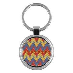 Aztec South American Pattern Zig Key Chains (round)  by BangZart