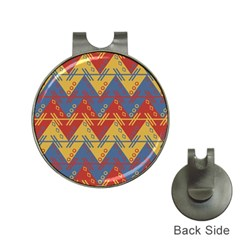 Aztec South American Pattern Zig Hat Clips With Golf Markers
