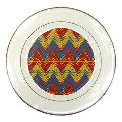 Aztec South American Pattern Zig Porcelain Plates by BangZart