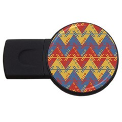 Aztec South American Pattern Zig Usb Flash Drive Round (4 Gb)