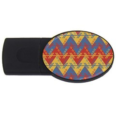 Aztec South American Pattern Zig Usb Flash Drive Oval (4 Gb)