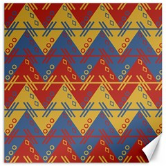 Aztec South American Pattern Zig Canvas 16  X 16