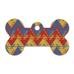 Aztec South American Pattern Zig Dog Tag Bone (two Sides) by BangZart